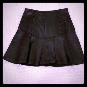 black leather Diane von furstenberg mini skirt!